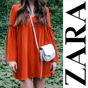 Zara Bell Sleeve Minidress